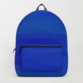 Subtle Cobalt Blue Waves Pattern Ombre Gradient Backpack