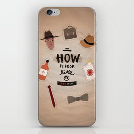 how to look a Mad Men iPhone Skin