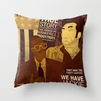 seinfeld Throw Pillows featuring For Seinfeld Fans pt.2 by Alain Cheung