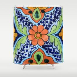 Talavera Ten Shower Curtain