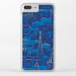 Blue City Clear iPhone Case