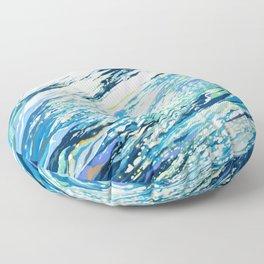 Silent Blue Floor Pillow