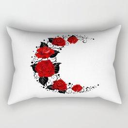 Moon of Red Roses Rectangular Pillow
