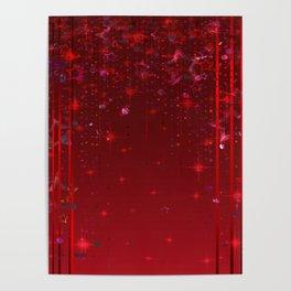 Red rain. Christmas . Poster