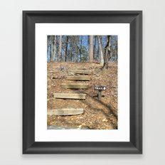 First Steps of the Journey Framed Art Print