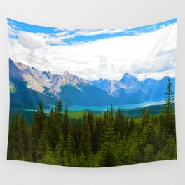 Bald Hills Hike in Jasper National Park, Canada Wall Tapestry