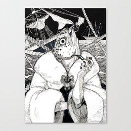 The Cryptids - Mermaid Canvas Print