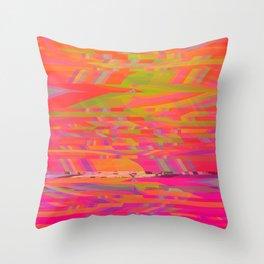 Rainbow Storms Throw Pillow