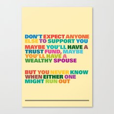 Trust Fund Canvas Print