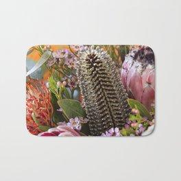 Banksia and Protea blooms Bath Mat