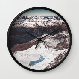 beauty of alps Wall Clock