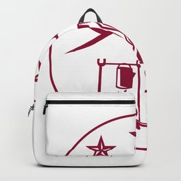 Cowboy Drink Coffee Campfire Circle Backpack