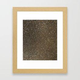 Bronze Gold Burnished Glitter Framed Art Print