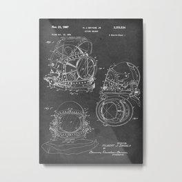 Diving Helmet - Patent #3,353,534 - H. J. Savoie Jr. - 1967 Metal Print