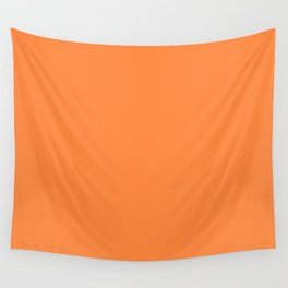 Irish Flag Orange Simple Solid Color Wall Tapestry