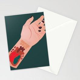 I Wear My Heart On My Sleeve Stationery Cards
