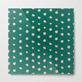 Spring Dots No 01 (square) Metal Print
