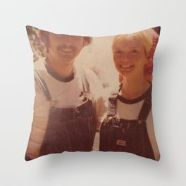 Mom and dad honeymoon Throw Pillow