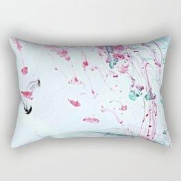 Raspberry Ocean Ink Fluid Rectangular Pillow
