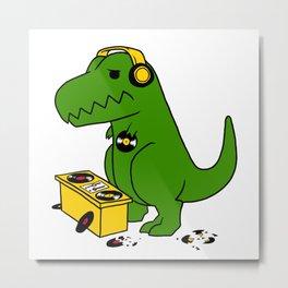 worst DJ ever T-rex Metal Print
