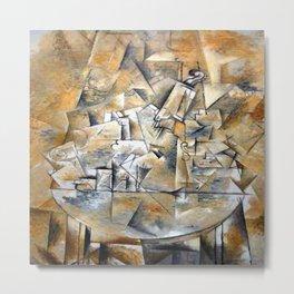Georges Braque Pedestal Table Metal Print