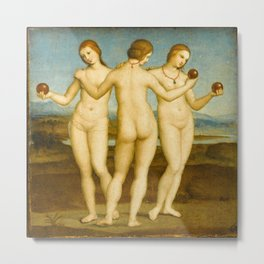Raphael - Three Graces Metal Print
