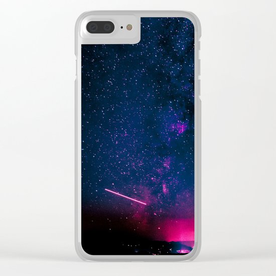 Electric Desert Starry Night Clear iPhone Case