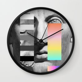 Sculpture of a Man With Shifting Patterns 1 Wall Clock