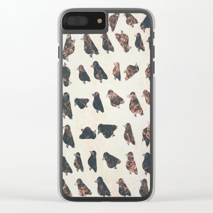 crow-52 Clear iPhone Case