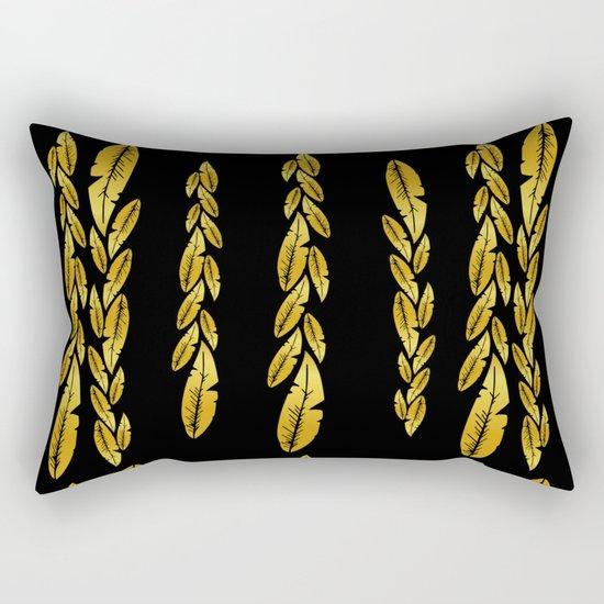 Gold feathers Rectangular Pillow