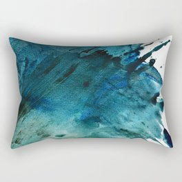 Scenic Route [2]: a pretty, minimal abstract piece in blue and green by Alyssa Hamilton Art Rectangular Pillow