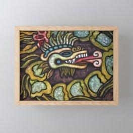 Quetzalcoatl in Green Tones Framed Mini Art Print