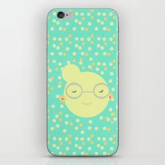 MISS SUNSHINE IN GLASSES iPhone & iPod Skin