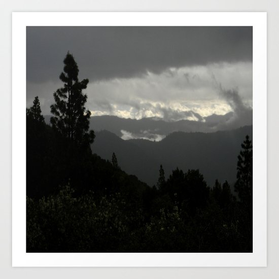 Another stormy day on the mountain... Art Print