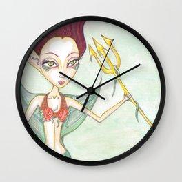 Tritans Mermaid Daughter Wall Clock