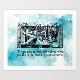 Roald Dahl - Believe in Magic Art Print