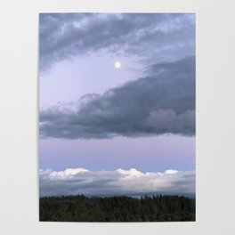 Moon Clouds Poster