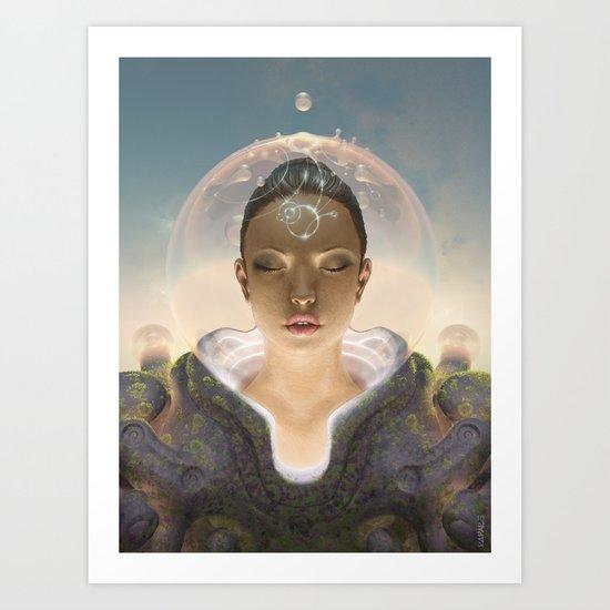 Telepathist Art Print
