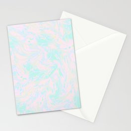 BLUE AND PINK PAINT SWIRL Stationery Cards