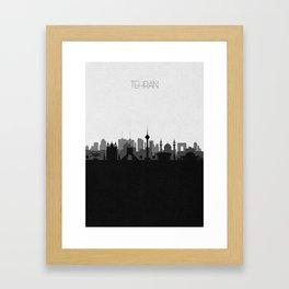 City Skylines: Tehran Framed Art Print