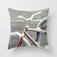 cycle Throw Pillows featuring Cycle by Kiersten Marie Photography
