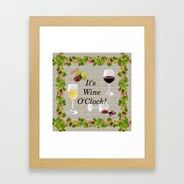 It's Wine O'Clock Framed Art Print