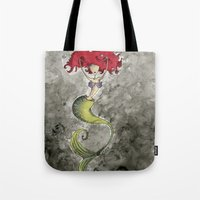 ariel Tote Bags featuring Ariel by Jena Sinclair