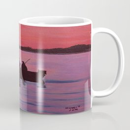 Fishing in the sunset Coffee Mug