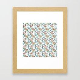 Butterflies In Springtime Framed Art Print