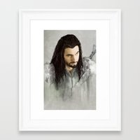 thorin Framed Art Prints featuring Thorin by Alba Palacio