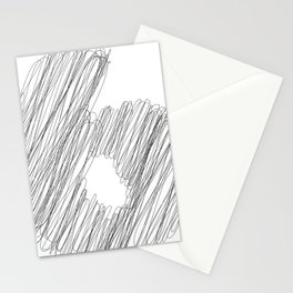 """ Cloud Collection "" - Minimal Number Six Print Stationery Cards"
