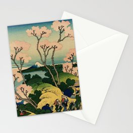 "Hokusai (1760–1849) ""Goten-yama-hill, Shinagawa on the Tōkaidō"" Stationery Cards"