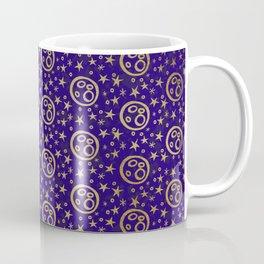 Golden Moon and Stars Pattern Coffee Mug
