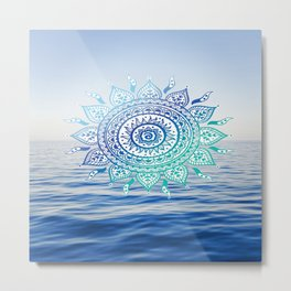 Sea Mandalla Metal Print